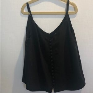 Madewell black button up tank top size 00